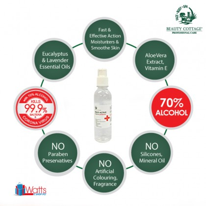Beauty Cottage Multi Active Hygienic Protector 70% Alcohol Hand Sanitizer Gel 250ml