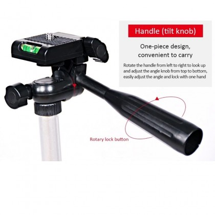 Tripod 3110 Lightweight Camera Stand With Three-Dimensional Head and Phone Holder