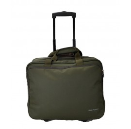 Hush Puppies 693308 Document Bag with Trolley 16.5-inch Khaki