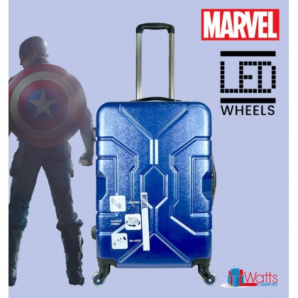 Marvel VAA1890 Superheroes-Inspired 20-inch PC Hardcase Luggage With LED Spinner Wheels