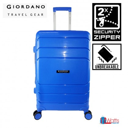 Giordano GA9866 24-inch PP Unbreakable Expandable Hardcase Luggage with Security Zipper