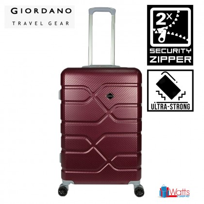 Giordano GA1905 20-inch Ultra-Strong ABS Expandable Hardcase Luggage with Security Zipper