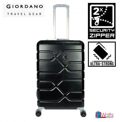 Giordano GA1905 28-inch Ultra-Strong ABS Expandable Hardcase Luggage with Security Zipper
