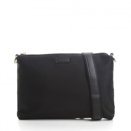 DAZZ On the Go Classic 4in1 Bag Brilliant Black with Security Lock Clutch Crossbody Zipper Pouch Bag