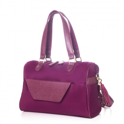 DAZZ On the Go Classic 4in1 Bag Majestic Magenta Clutch Crossbody Zipper Pouch Bag