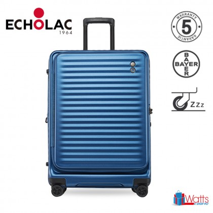 Echolac Celestra PC183F 24-inch PC Spinner Case Double Zipper Luggage