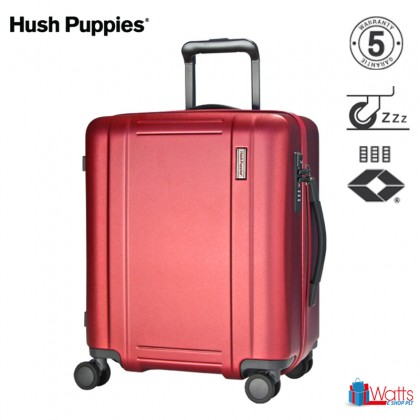 Hush Puppies PC 20-inch 694022 Double-Zipper Hardcase Luggage with TSA Lock and Silent Hinomoto Wheels