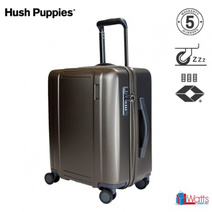 Hush Puppies PC 24-inch 694022 Double-Zipper Hardcase Luggage with TSA Lock and Silent Hinomoto Wheels