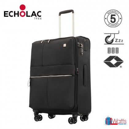 Echolac Hydra CT714A 20-inch Softcase Spinner Case Double Zipper Luggage