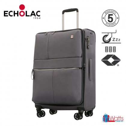 Echolac Hydra CT714A 24-inch Softcase Spinner Case Double Zipper Luggage
