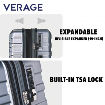 Verage Crust Unbreakable Expandable 25-inch Double-Zipper Hardcase Luggage GM17106W