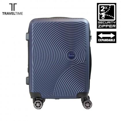 TravelTime Double-Zipper 20-inch Expandable Anti-Theft Hardcase Luggage TT6113